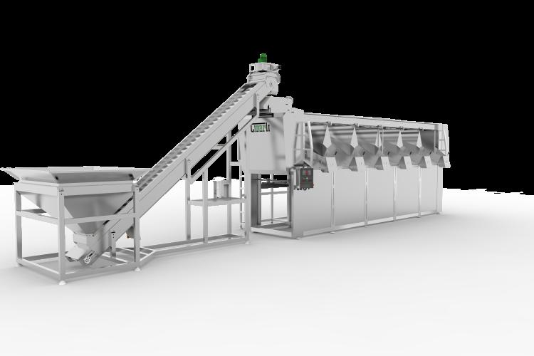 Yüksek Platformlu Zeytin Eleme Makinası